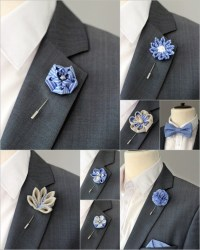 1 flower lapel pin Mens lapel flower Boutonniere Lapel