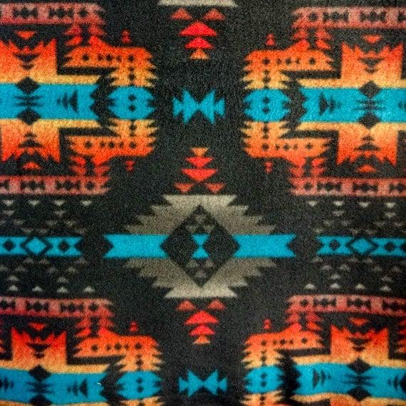Aztec Print Wallpaper Hd Aztec Indian Canyon Black Anti Pill Fleece Fabric 60 Inches