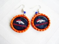 Broncos earrings | Etsy