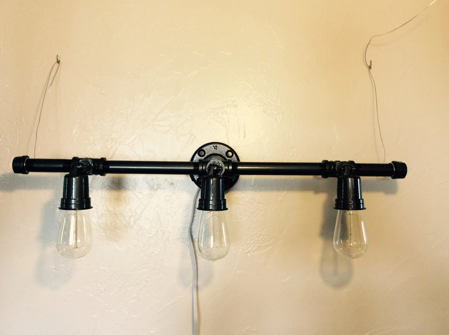 Pipe Light Fixtures Industrial Pipe Light Fixture By Ferallove On Etsy