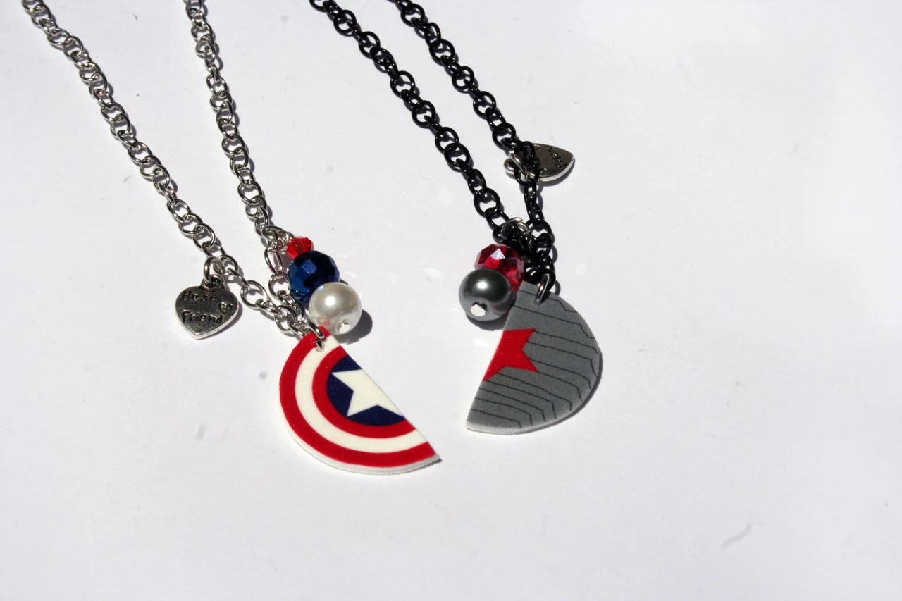Cute Lockets Wallpaper Winter Soldier Captain America Inspired Best Friend Necklaces