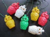 Vintage Owl Patio Lights // Blow Mold Retro Plastic String
