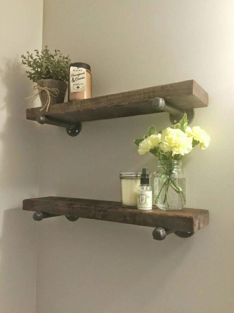 Fullsize Of Wood Bathroom Shelf