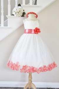 Flower Girl Dresses Coral Color - Flower Girl Dresses