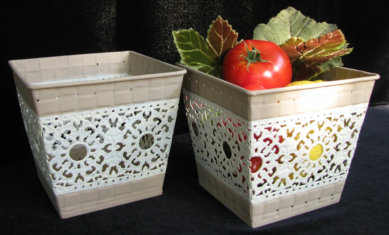 Designer Fruit Basket Fancy Berry Baskets Metal Fruit Baskets Decorative Basket
