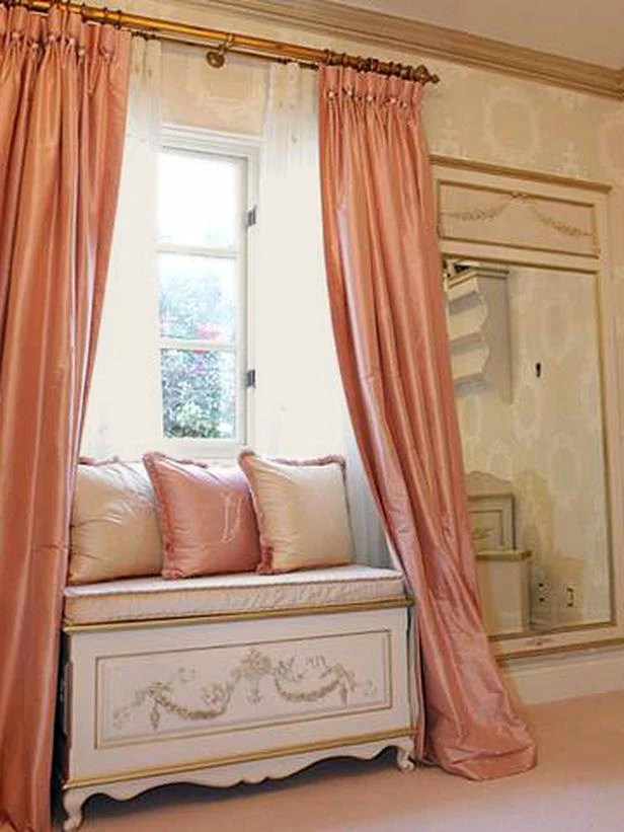 Baby Girl Nursery Wallpaper Uk Coral Pink Silk Curtain Dupioni Silk Window Dressing