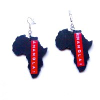 Africa Shaped Earrings Amandla South Africa Earrings Shape of