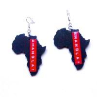 Africa Shaped Earrings Amandla South Africa Earrings Shape of