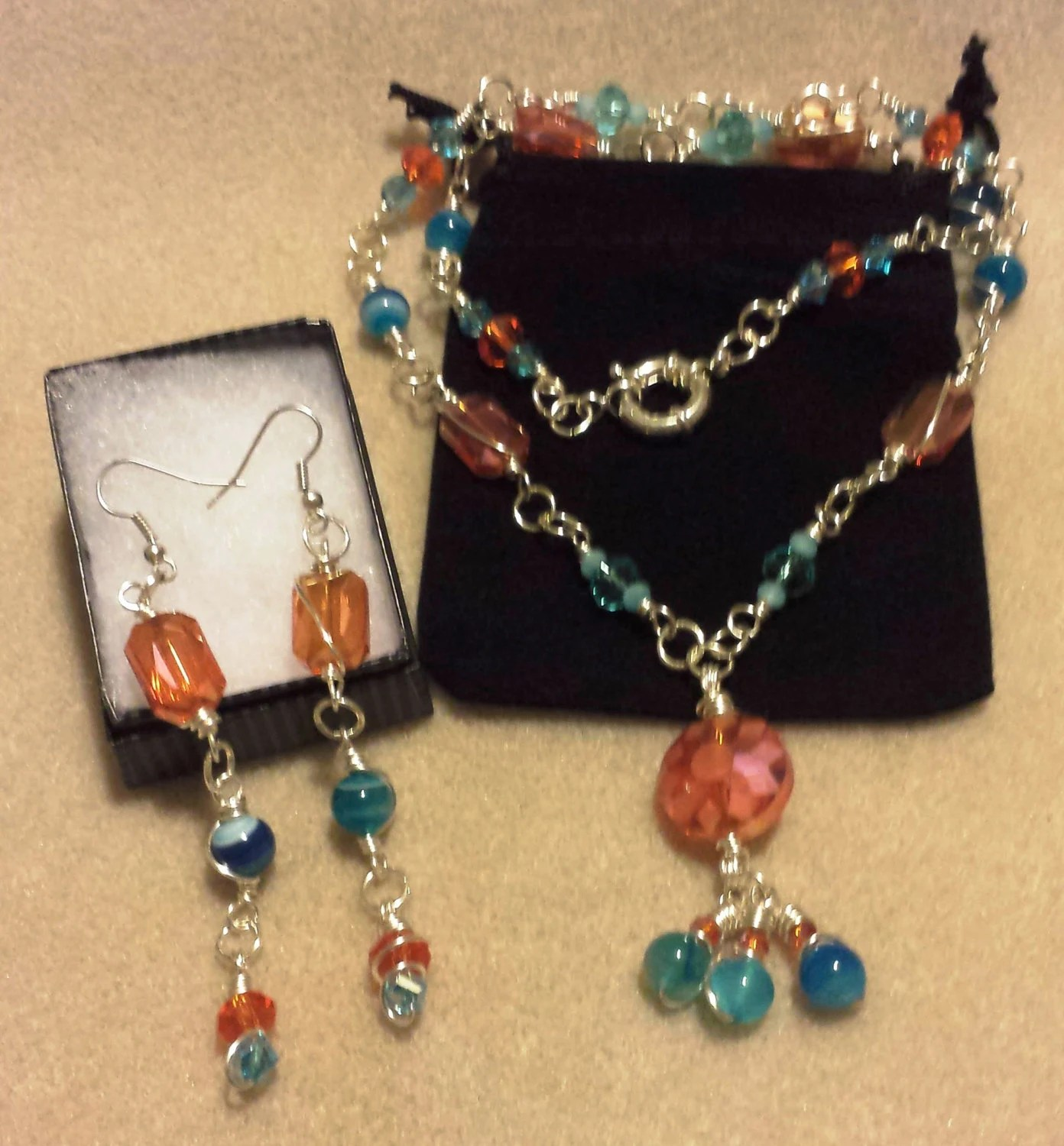 Unusual Handcrafted Jewelry Fun In The Sun Unique Handmade Jewelry Set By