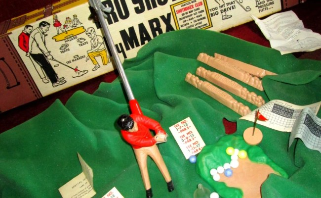 Vintage Marx Pro Shot Golf Toy Game Complete In Box Excellent