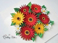 Quilling Paper Flowers Wall art Wall hanging