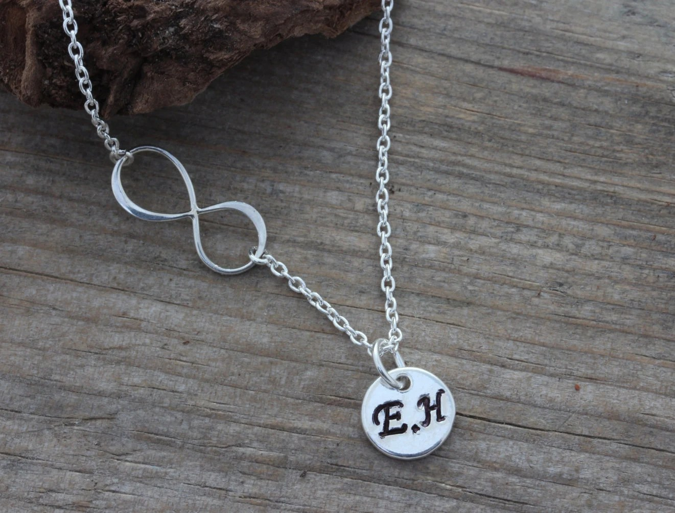 Couple Initial Necklace Infinity Necklace With Initials By