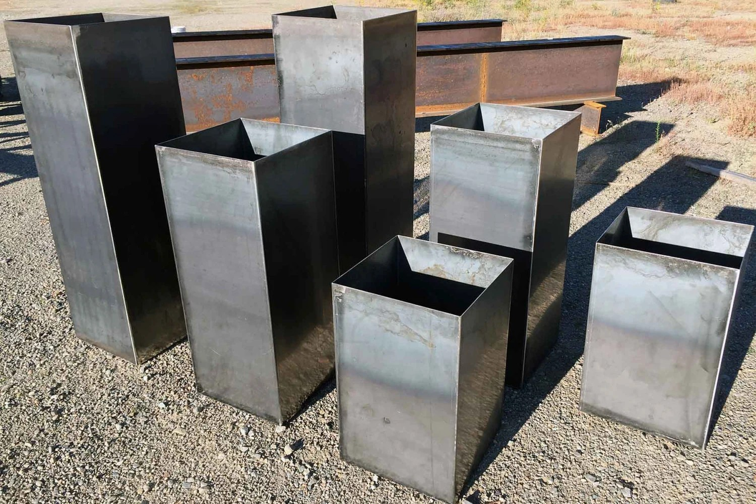 Metal Planter Boxes Custom Steel Planter Boxes By Louswelding On Etsy