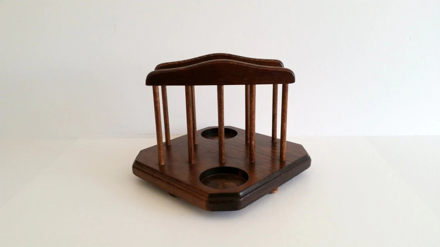Salt Pepper Holder Wood Napkin Holder And Spaces For Salt And Pepper Shakers