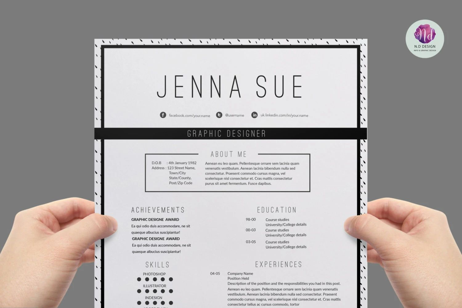 resume template background