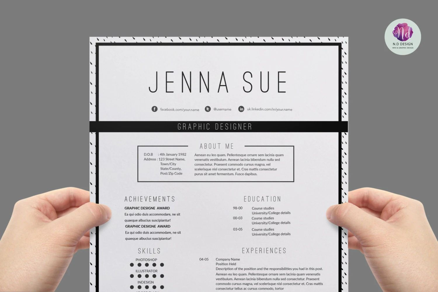 modern background cv