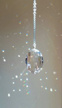 Swarovski crystal suncatcher blue crystal sun catcher