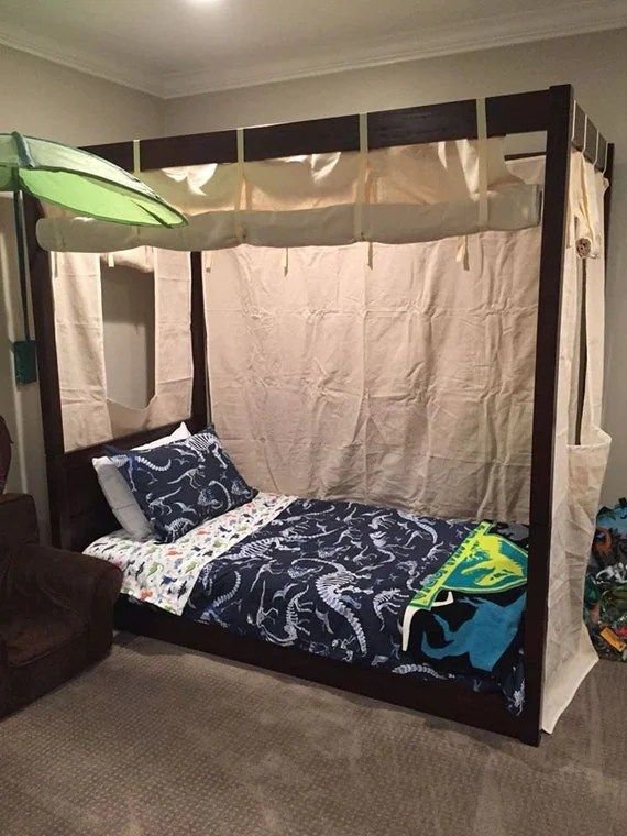 Bett Für Jungs Items Similar To Twin Size Canvas Bed Enclosure Tent- Boys