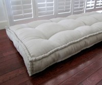 Linen Daybed Mattress Custom Cushions Tufted Linen Cushion