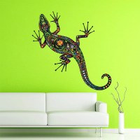 Abstract Lizard Wall Decal Full Color Lizard Decal Colorful