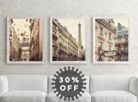 SALE Paris Prints Set Paris Photography Neutral Wall Art