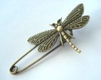 Dragonfly shawl pin | Etsy
