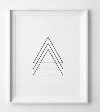 Black and white art geometric wall art print printable wall