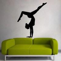 Gymnast Wall Decals Sport Girl Decal Gym Design Home Interior