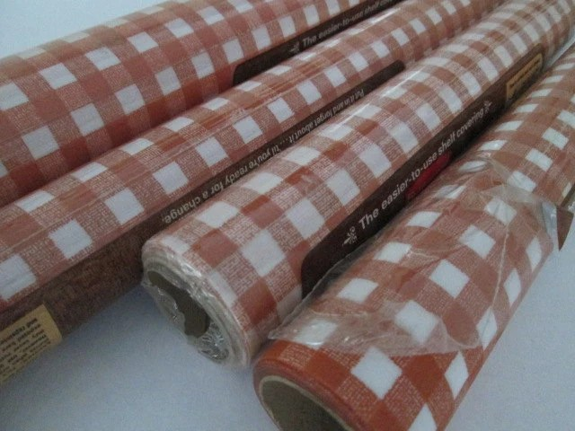 4 Rolls Gingham Plaid Contact Paper Drawer Liner Shelf Paper