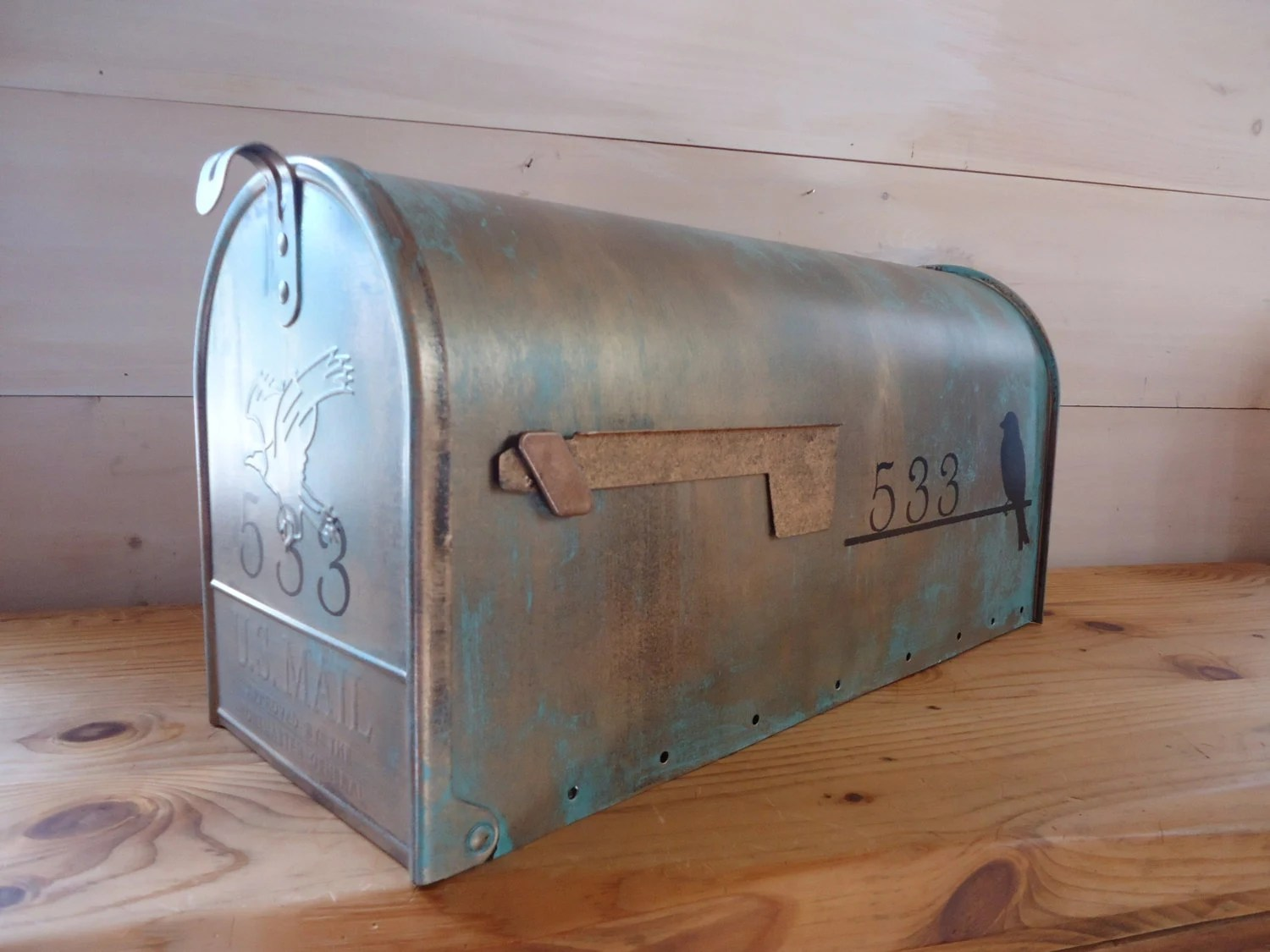 Copper Mailbox Patina Custom Aged Copper Verde Patina Mailbox Large By