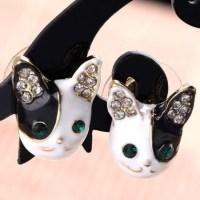 bulldog earrings kawaii puppy dog boston terrier by ...