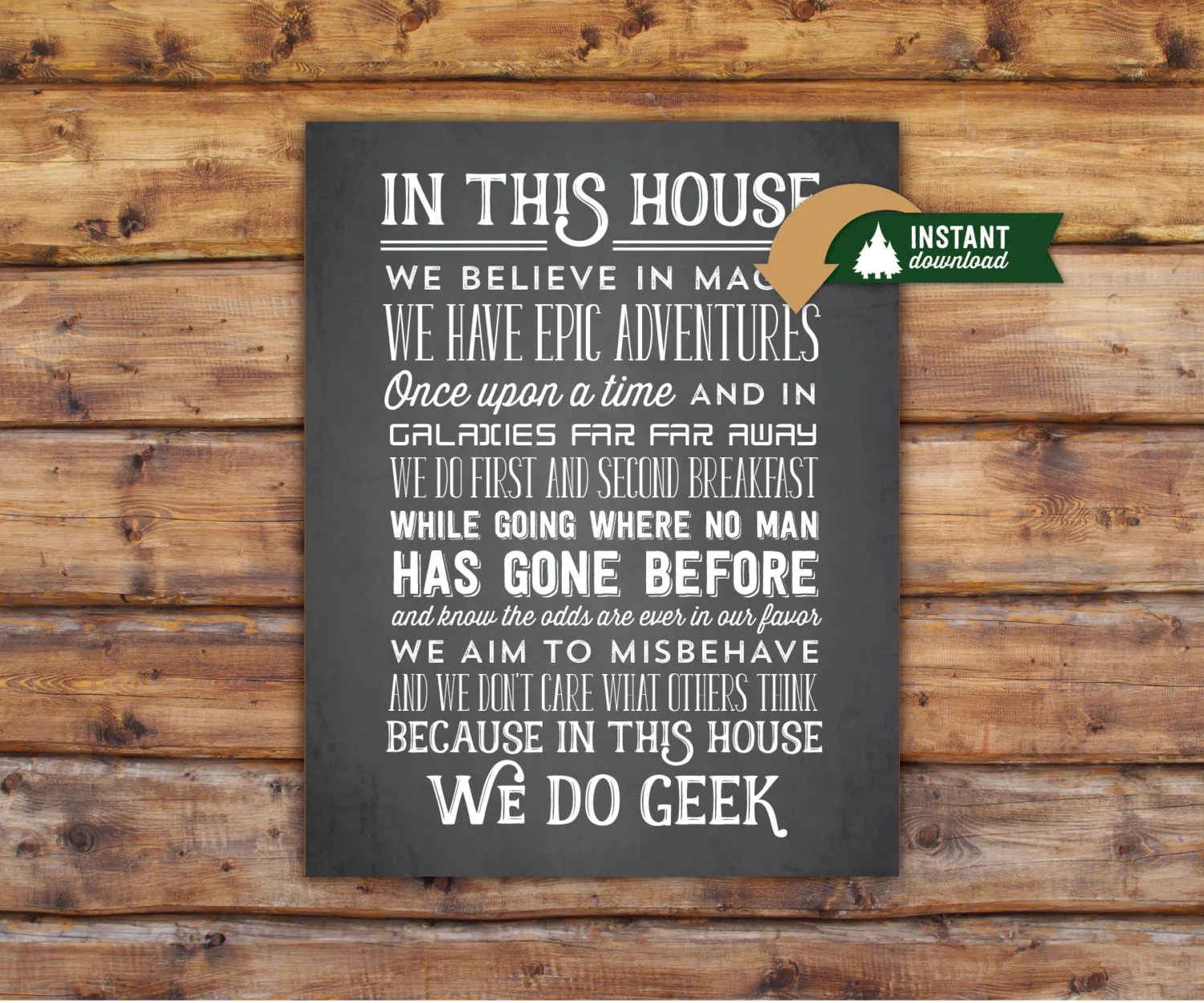 Geek Wall Art In This House We Do Geek Wall Art 11x14 Instant By