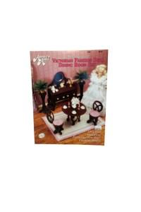 Vintage Fashion Doll Furniture Plastic Canvas Book Victorian