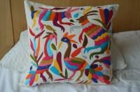 Organic Mexican pillow cover handmade mexican textile