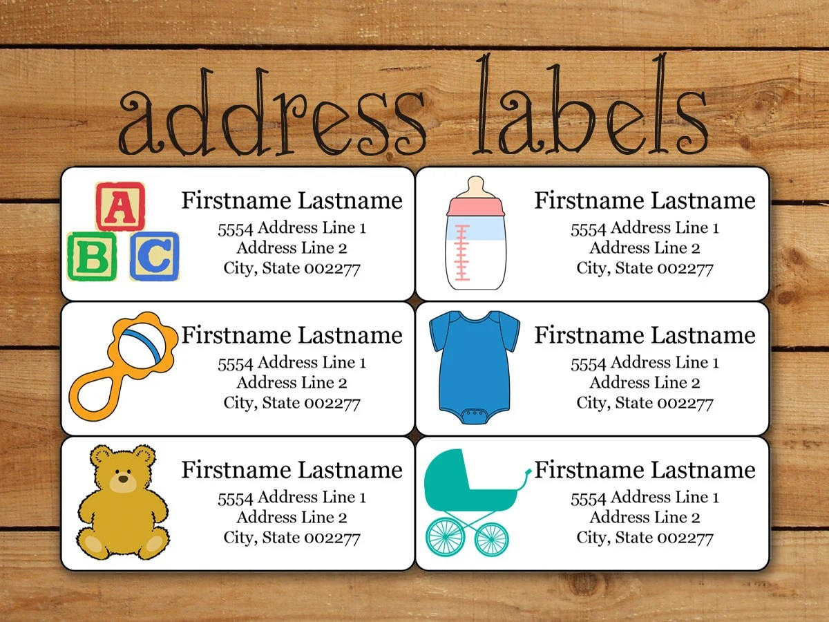 baby shower address labels templates - Ozilalmanoof - Free Baby Shower Label Templates