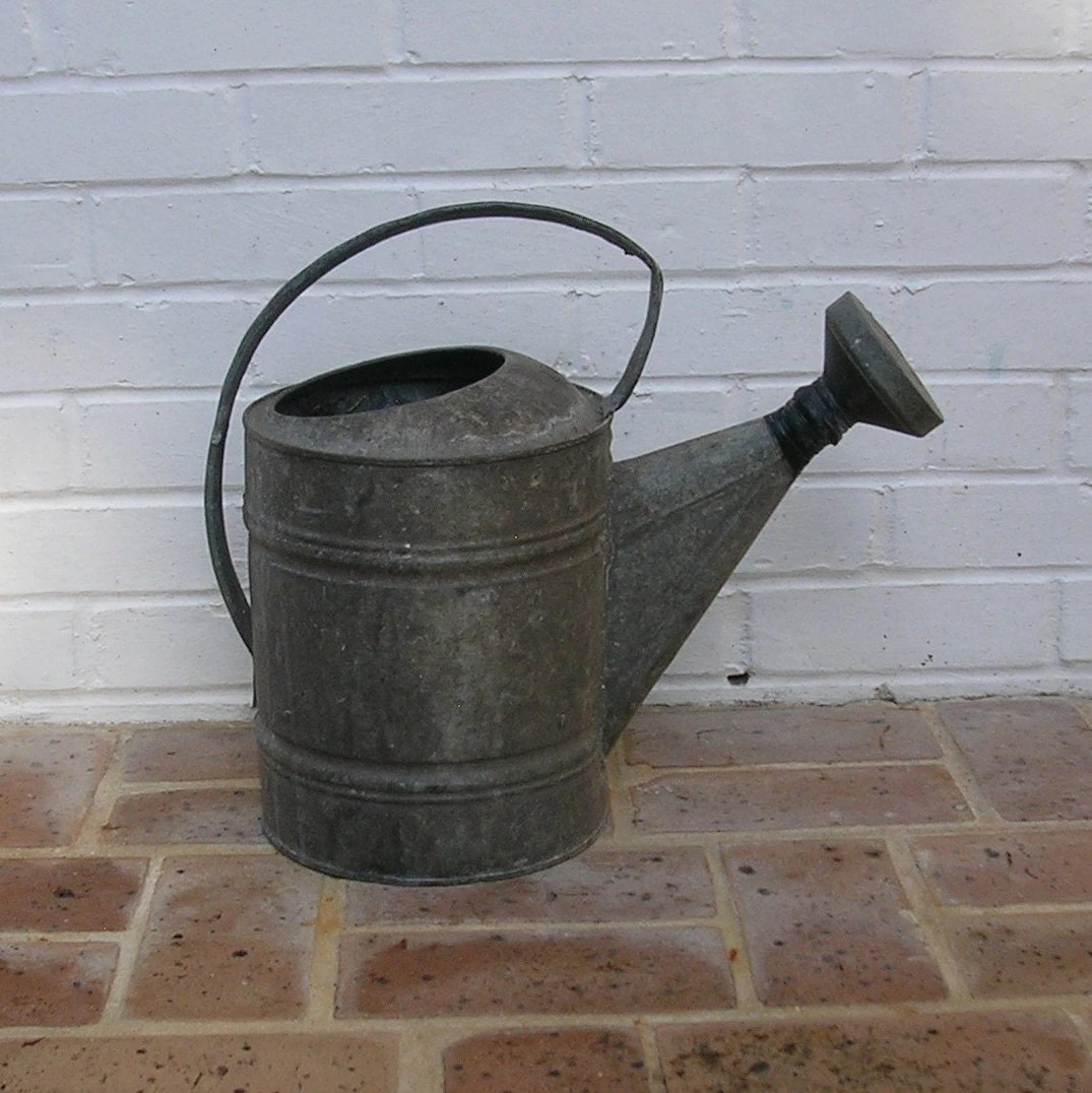 Galvanized Watering Cans Vintage Galvanized Watering Can Old Watering Can 10 Gallon