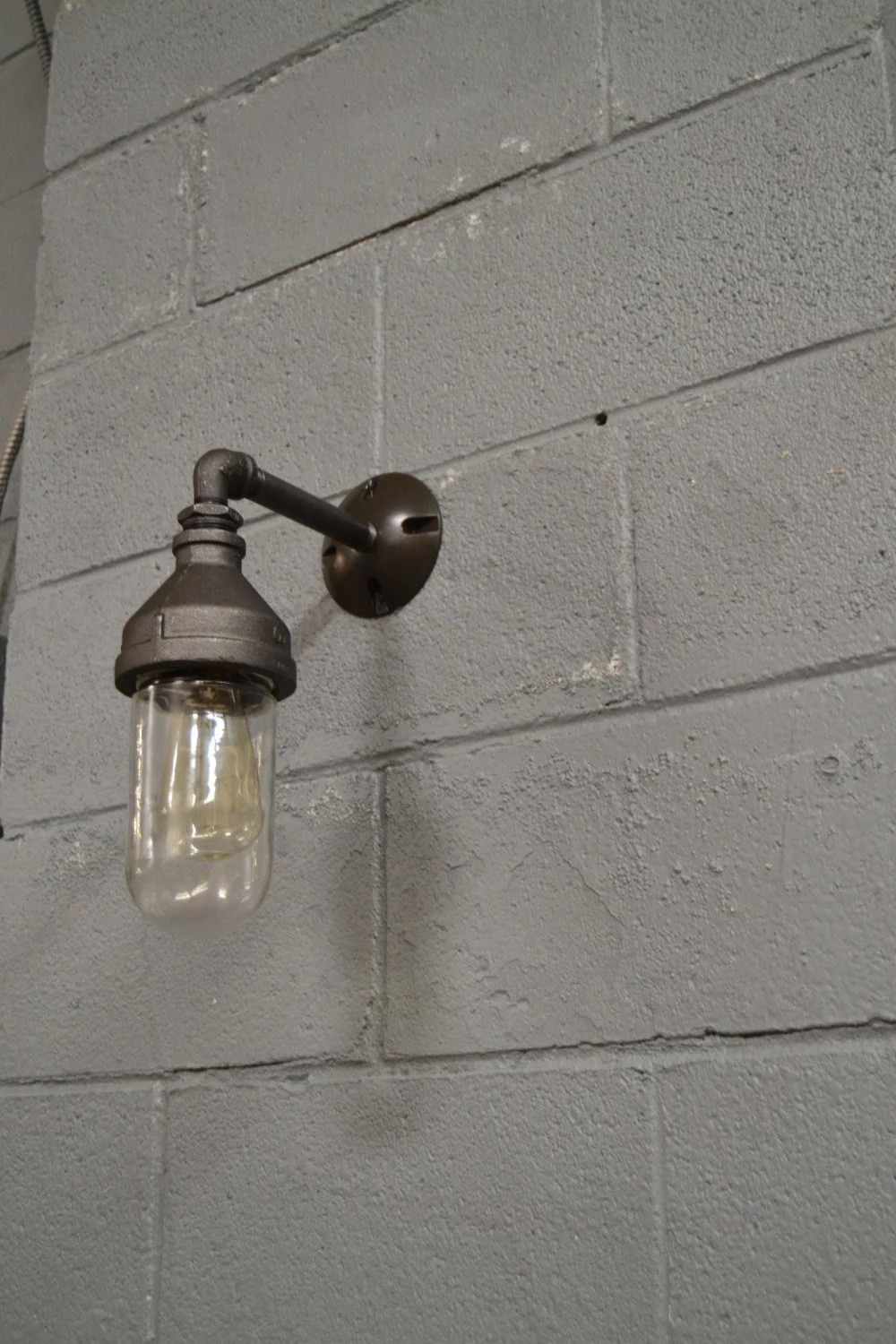 outdoor lighting vintage kitchen lighting Outdoor light glass light Kitchen Light Wall Sconce Industrial Sconce Vintage Light Old Light Ship Light Nautical Light