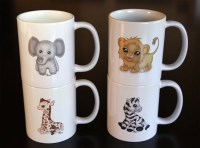 White Cat Mug And Spoon Set Ceramic Coffee Mug Set | Autos ...