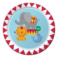 Circus Party Plates Paper Plates Carnival by thepartiesthatpop