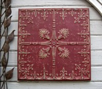 Antique PRESSED TIN. 2'x2' FRAMED Tin Ceiling by ...