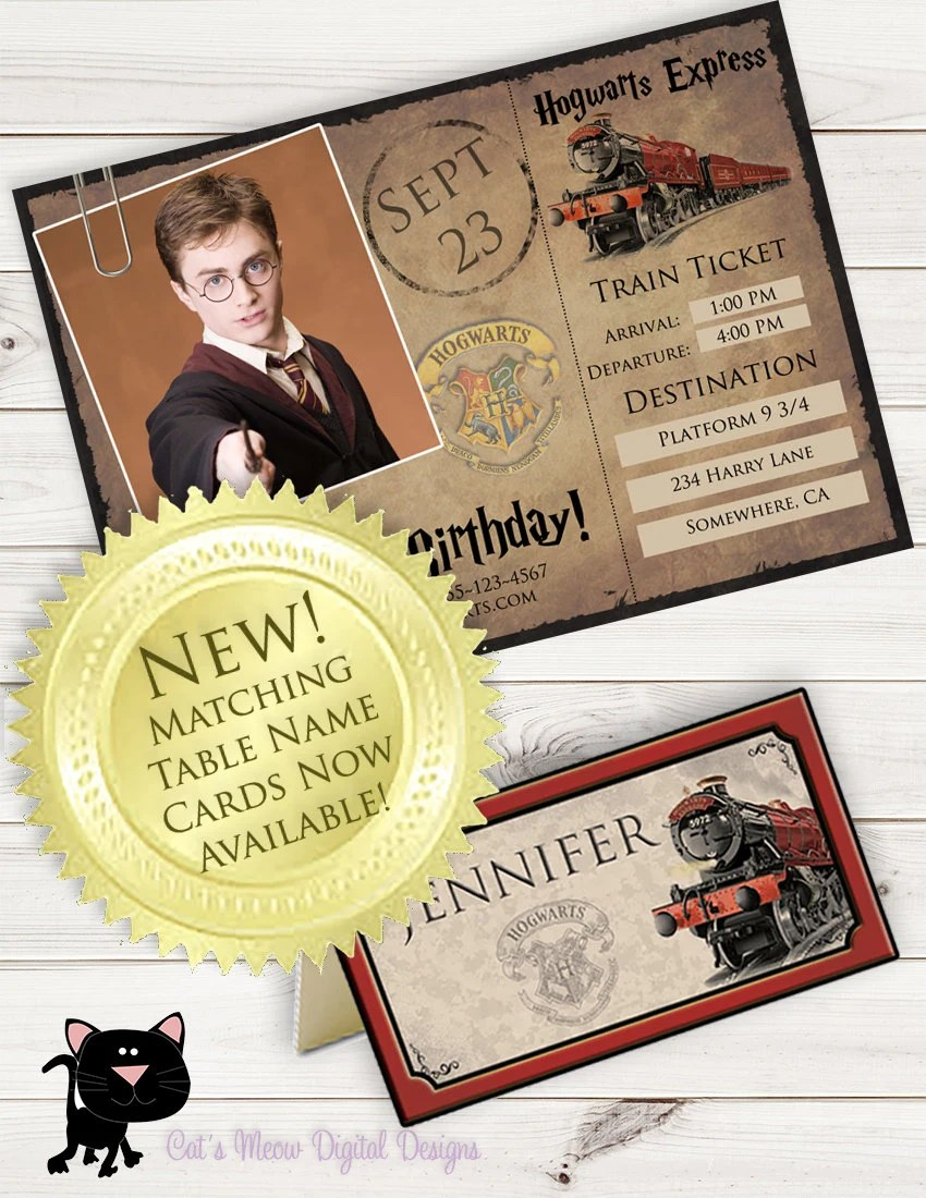 D Living Gutschein Hogwarts Harry Potter Printable Postcard Invitation