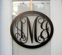 Oval Metal Monogram Wall/Door Hanger by HouseSensationsArt ...