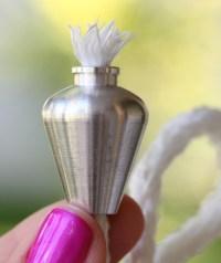 6 Aluminum Bottle Wick Holders Wine Bottle Wicks Oil Candle