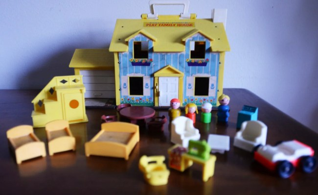 Fisher Price Little People House 1969 Dollhouse And Items