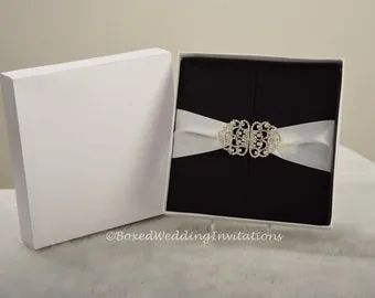 Gatefold invitation box silk invitation box boxed wedding