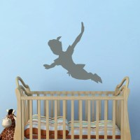 Flying Peter Pan Shadow Wall Decal Vinyl Sticker Peter Pan