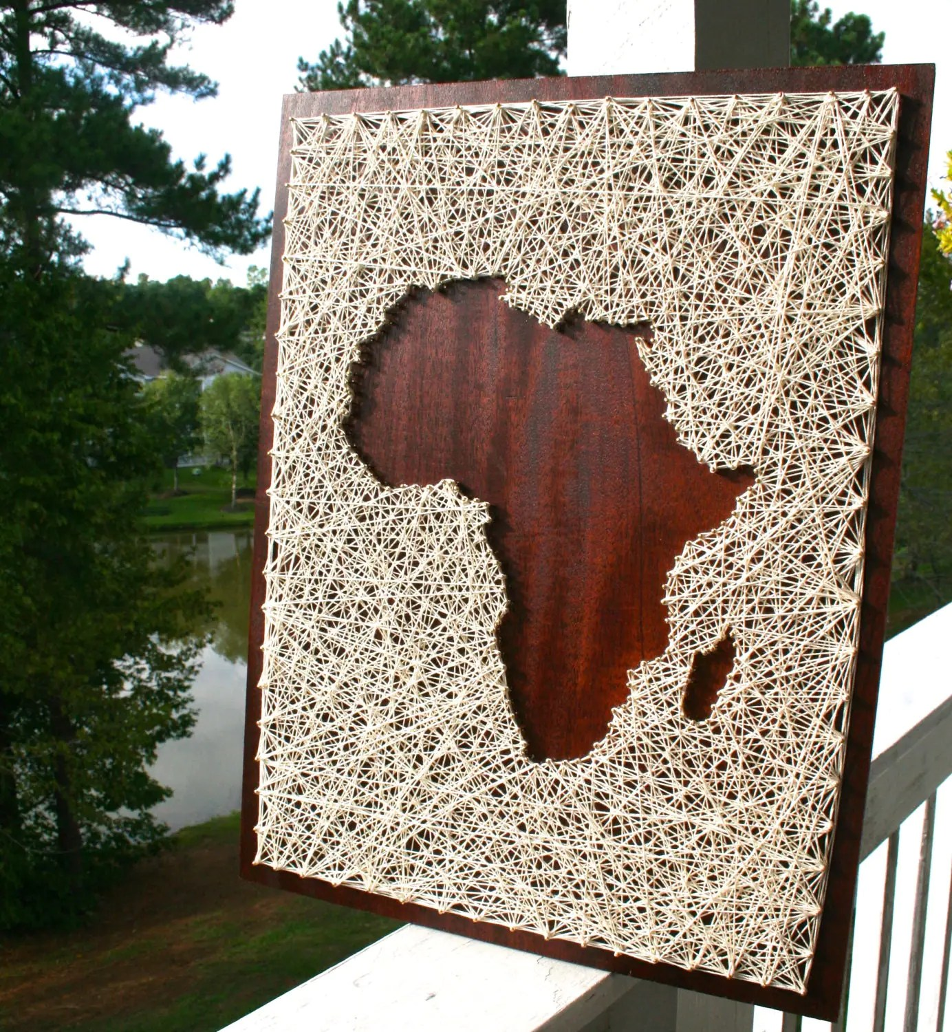 African Wooden Wall Art Africa String Art Africa Art Map Of Africa Map String
