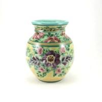 Yellow Flower Vase Small Decorative Ceramic Bud Vase