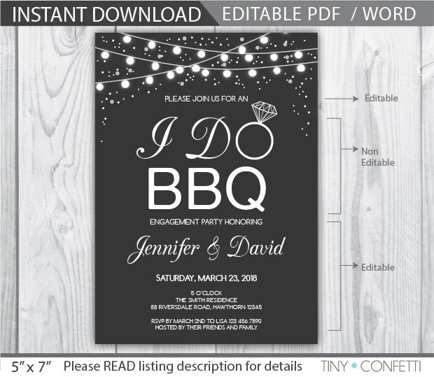 i do bbq wedding invitations templates - 28 images - 53 bbq - i do bbq wedding invitations