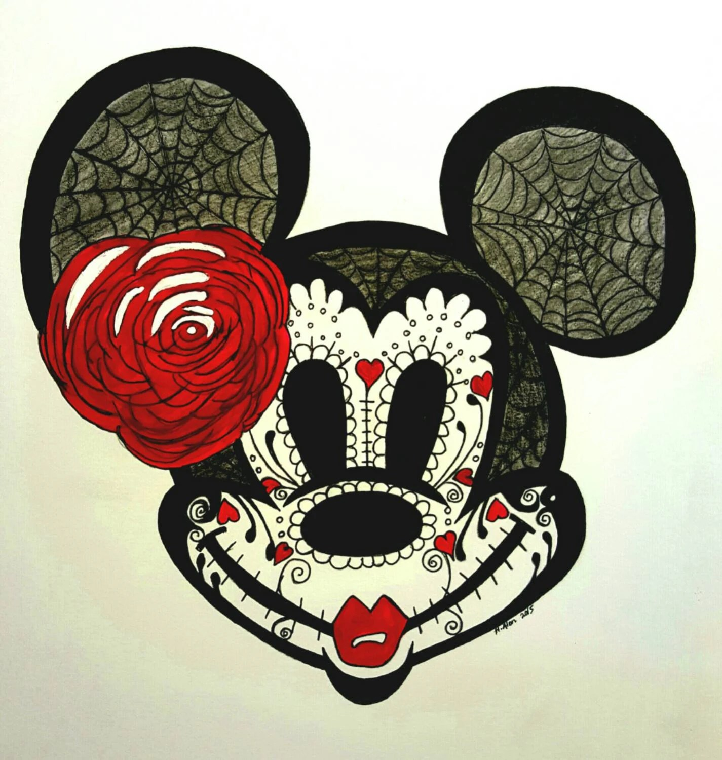 Cute Dia De Los Muertos Wallpaper Day Of The Dead Minnie Mouse